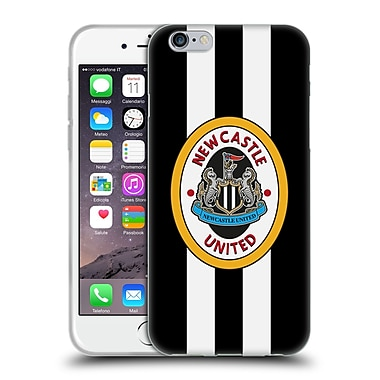 Official Newcastle United Fc Nufc Retro Badge Collection 1996 Home Shirt Front Soft Gel Case For Apple Iphone 6 / 6S