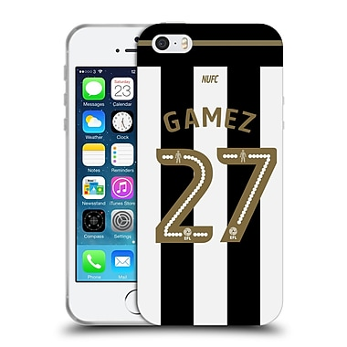 Official Newcastle United Fc Nufc 2016/17 Players Away Kit 1 Gamez Soft Gel Case For Apple Iphone 5 / 5S / Se