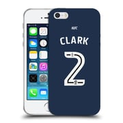 Official Newcastle United Fc Nufc 2016/17 Players Away Kit 2 Clark Soft Gel Case For Apple Iphone 5 / 5S / Se