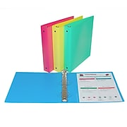 """C-Line® 1-1/2"""" capacity, 3-Ring Binder, assorted colors, bundle of 6 (CLI31720)"""