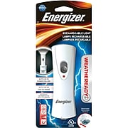 """Energizer Weatheready 5"""" Rechargeable LED Compact Handheld Flashlight, White (RCL1FN2WR)"""