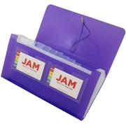 JAM PaperR 13 Pocket Expanding File With Button String Closure Check Size 5 X 105 Purple 24 Pack 340332823b