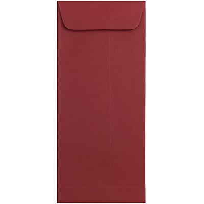 JAM Paper® #10 Policy Envelopes, 4 1/8 x 9 1/2, Christmas Red Recycled, 500/pack (31515415h)