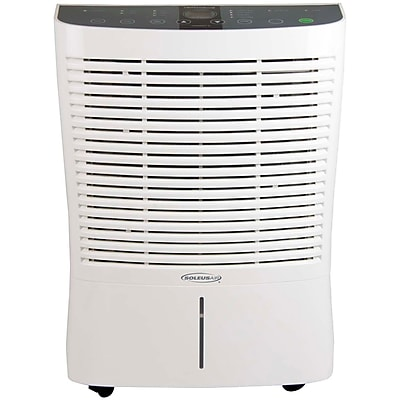 SoleusAir 95-Pint Portable Dehumidifier with Internal Pump in White