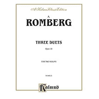 Alfred ROMBERG 3 DUETS OP 18 2VNS (ALFRD75377)