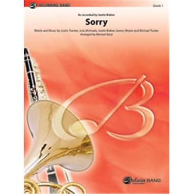 Alfred Sorry, Conductor Score & Parts - 1 - Very Easy (LFR2020)