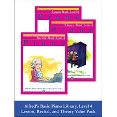 Alfred Basic Piano Library Lesson, Theory, Recital 4 (LFR615)