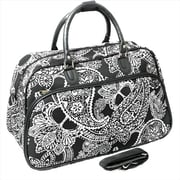 All-Seasons 21 in. Bandana Carry-On Shoulder Tote Duffel Bag, Black & White (ECWE067)