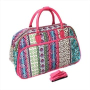 All-Seasons 21 in. Artisan Carry-On Shoulder Tote Duffel Bag, Multicolor (ECWE070)