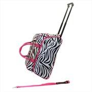 All-Seasons 21 in. Vacation Deluxe Carry-On Rolling Duffel Bag, Pink Zebra (ECWE095)