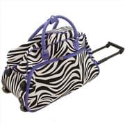 All-Seasons 21 in. Rolling Duffel Bag, Purple Zebra (ECWE071)