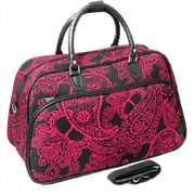 All-Seasons 21 in. Bandana Carry-On Shoulder Tote Duffel Bag, Black & Pink (ECWE068)
