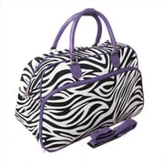 All-Seasons 21 in. Zebra Carry-On Shoulder Tote Duffel Bag, Purple (ECWE046)
