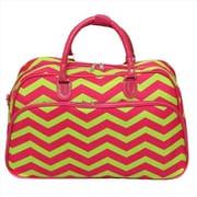 All-Seasons 21 in. ZigZag Carry-On Shoulder Tote Duffel Bag, Pink Lemonade (ECWE048)