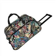 All-Seasons 21 in. Designer Prints Carry-On Rolling Duffel Bag, Multi Paisley (ECWE017)