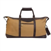 Canyon Outback Leather 22 in. Utah Canyon Collection Canvas and Leather Duffel Bag, Brown (ECWE228)