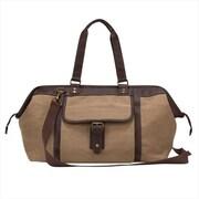 World Traveler The Riverside Collection Canvas Ultra Lightweight Duffel Bag, Brown (ECWE533)