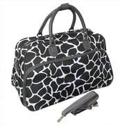 All-Seasons 21 in. Giraffe Carry-On Shoulder Tote Duffel Bag, Brown (ECWE059)