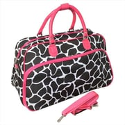 All-Seasons 21 in. Giraffe Carry-On Shoulder Tote Duffel Bag, Pink (ECWE058)