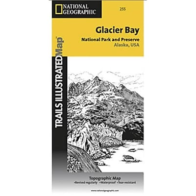 National Geographic Map Of Glacier Bay National Park - Alaska (NGS376) 24024767
