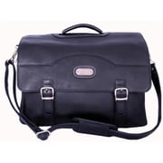 Leatherbay Stanford Leather Briefcase, Black (LTRBY006)