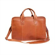 Canyon Outback Leather 15 in. Buffalo Valley Leather Briefcase, Distressed Tan (ECWE239)