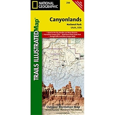 National Geographic Map Of Canyonlands National Park-Needles-Isle - Utah (NGS350) 24024931