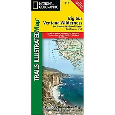 National Geographic Maps Big Sur - Ventana Wilderness - Los Padres National Forest Map (NAGGR430)