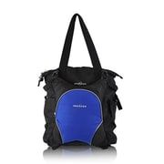 Obersee Innsbruck Diaper Bag Tote with Cooler - Black & Royal Blue (HLMN595)