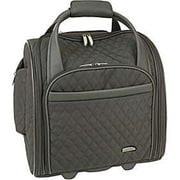 Travelon Quilted Microfiber Wheeled Underseat Carry-On With Back-Up Bag - Black (TRVLN356)