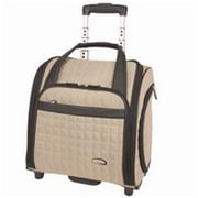 Travelon Quilted Microfiber Wheeled Underseat Carry-On With Back-Up Bag - Khaki (TRVLN359)
