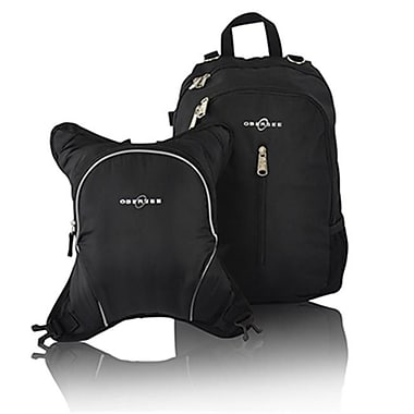 Obersee Rio Diaper Backpack with Detachable Cooler - Black & Black (HLMN132)
