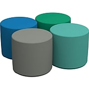 SoftScape Standard Polyurethane/Foam Ottoman Chairs, Assorted Colors (10453-CT)