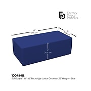 SoftScape Junior Polyurethane/Foam Ottoman Chair, Blue (10448-BL)