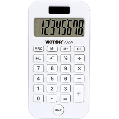 Victor Technology . Antimicrobial Pocket Calculator, White (DGC107415)