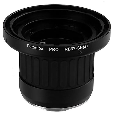 Fotodiox Pro Lens Mount Adapter - MamiyaTo Sony Alpha A-Mount SLR Camera Body with Built in Focusing Helicoid (FTDX971)