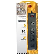 Prime 6 Outlet Black Metal Power Strip with 10 ft. Cord (JNSN78890)