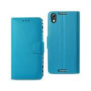 Reiko Alcatel Idol 4 Wallet Case with Inner Zebra Print, Blue (RKWL12029)