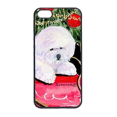 Carolines Treasures Christmas Tree With Bichon Frise Iphone 5 Cover (CRLT14842)