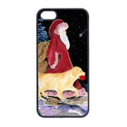 Carolines Treasures Santa Claus With Golden Retriever Iphone 5 Cover (CRLT14871)