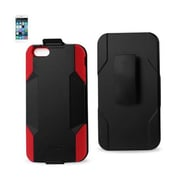Reiko Apple iphone 6 Plus Hybrid Heavy Duty Holster Combo Case, Red & Black (RKWL12361)