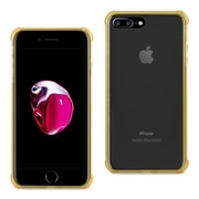 Reiko Apple iphone 7 Plus Clear Bumper Case with Air Cushion Shock Absorption, Clear & Gold (RKWL12401)