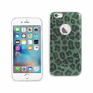 Reiko Apple iphone 6 & 6S Shine Glitter Shimmer Leopard Hybrid Case, Leopard Green (RKWL11961)