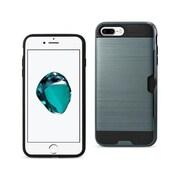 Reiko Apple iphone 7 Plus Slim Armor Hybrid Case with Card Holder, Navy (RKWL12495)