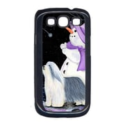 Carolines Treasures Snowman with Bearded Collie Cell Phone Cover Galaxy S111 (CRLT15631)