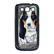 Carolines Treasures Basset Hound at the tree Cell Phone Cover Galaxy S111 (CRLT15577)