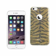Reiko Apple iphone 6 & 6S Plus Shine Glitter Shimmer Tiger Stripe Hybrid Case, Yellow (RKWL11946)