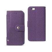 Reiko Apple iphone 6 & 6S Wallet Case with Slide Out Pocket & Fold Stand, Purple (RKWL12111)