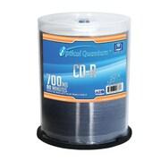 Optical Quantum 100 Pack AZO 52x 80 MIN 700 MB CD-R Blank Media White Inkjet Printable (VNPWR353)