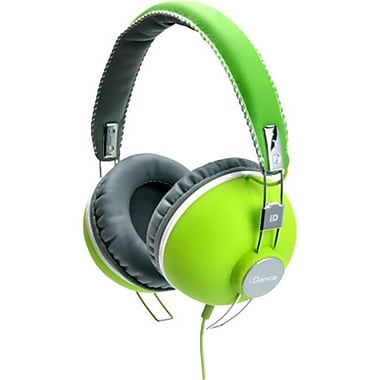 IDANCE Cup Headphones with inline Mic - Lime-Gray (TBALL8632)
